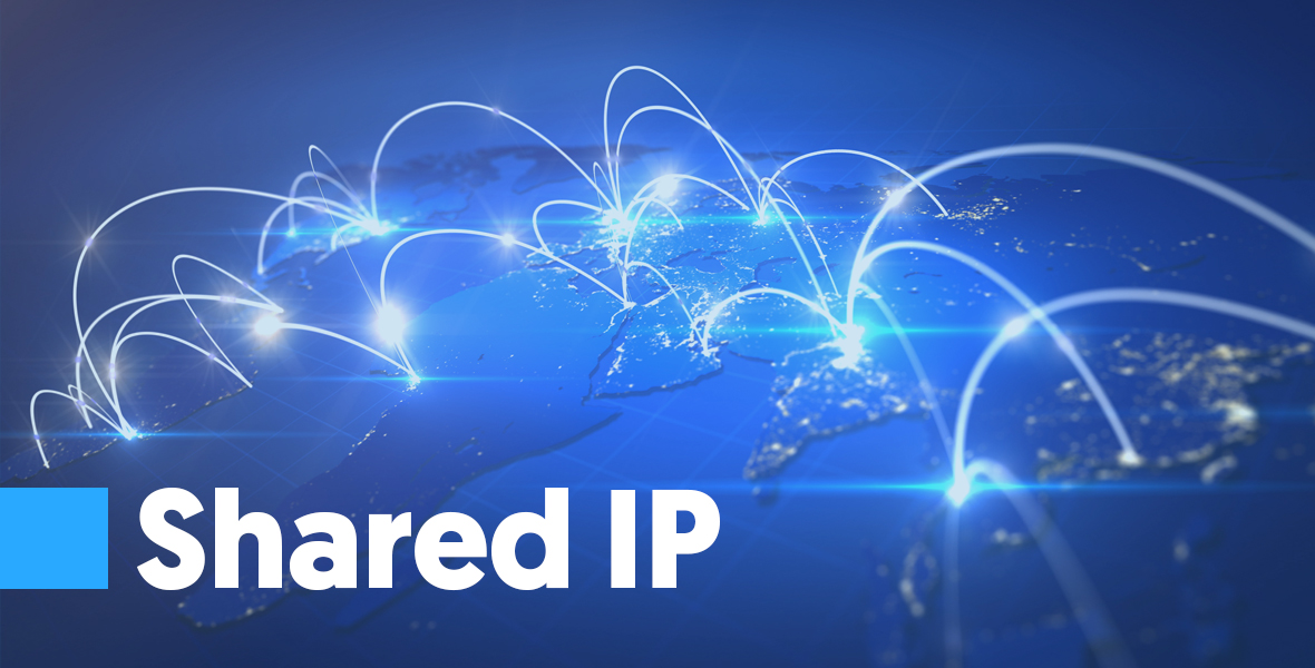 Shared IP A shared IP is an IP that is used by more than one sender. They are provided usually through companies like MailChimp. The benefits of using a shared IP are usually associated with cost, and there is no need to maintain or warm up the IP. The problems associated usually with shared IP is that they are more focused on sender reputation.