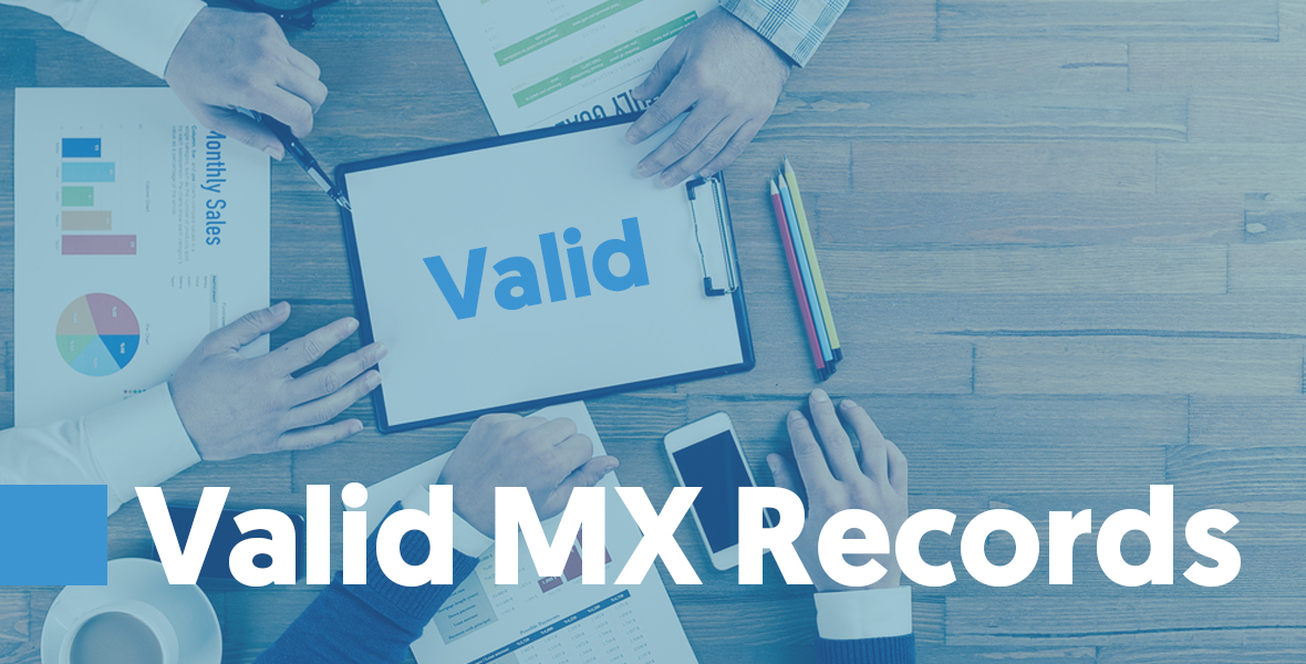 Valid MX Records The MX record contains a domain name. It's a DNS record that specifies a host or hosts which can accept mail for a domain. You need an MX record in order to receive email.